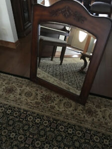 Quality solid wood vanity mirror