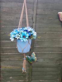 Hanging macrames & floral pots