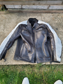 Secco leather motorbike jacket