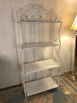 """Metal Bakers Rack 4 Shelves 27""""X12""""X61"""". Welded Joints.C11pix4details.MAKE OFFER"""