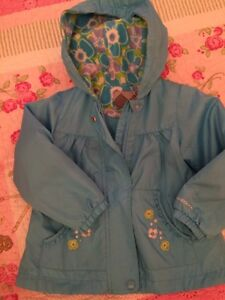 3t Spring/Fall jacket fleece lined with hood