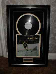 AUTOGRAPHED BOBBY ORR RECORD COVER FRAMED WITH  COA