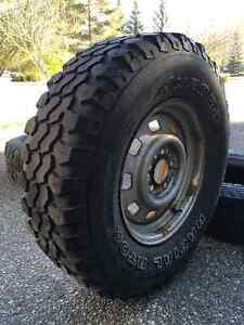 Two Aurora Radial RT02 tires