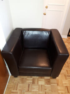 Brown Leather Armchair, originally bought from Structube
