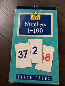School Zone - Numbers 1-100- Flash Cards
