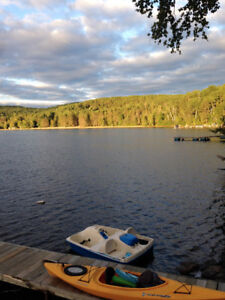 Cottage and Converted boathouse for rent on Lake Papineau