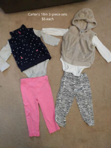 18 month fall/winter/spring clothing (25 pieces)
