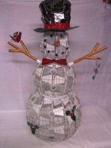 Christmas Stain Glass 3ft.Tall Snowman