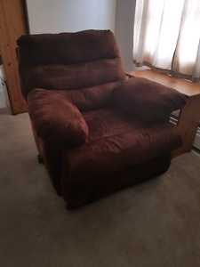 Matching reclining Couch and reclining rocking Chair