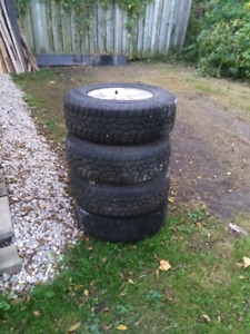 Set of 235-75R-15 tires