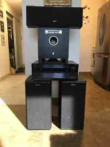 Complete Stereo System: Onyko 7.1 Receiver/Speakers/Centre/Sub