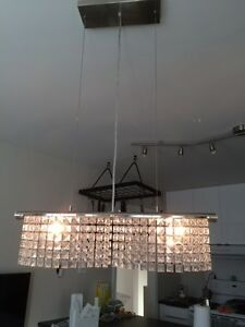 Chandelier suspension suspendu crystal cristal cristaux verre