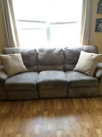 Microfiber Recliner Couch $30