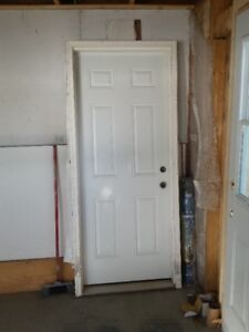 "EXTERIOR ENTRY 32"" STEEL DOORS  2 AT  $50.00 each LIKE NEW"