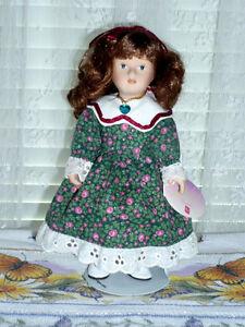 "Porcelain ""December"" Doll by RUSS : Clean:LikeNEW:Smoke Free"