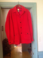 VINTAGE MEN'S RED WOOL HUDSON BAY COAT Size XL