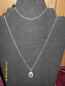 "Necklace (.925) Locket (opens) on a 16"" chain /Bracelet"