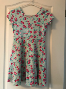 Blue and pink flowered dress