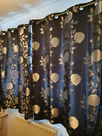 Black and silver/pewter curtains