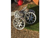 Set of five alloy wheels off MG rover