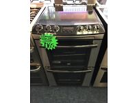 ZANUSSI 60CM CEROMIC TOP ELECTRIC COOKER IN SILIVER. H