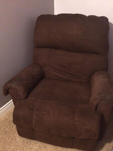 Dark Brown Recliner and Tube Chair
