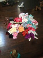Large Lot of 6-12 month girl Clothes - Boots - Shoes