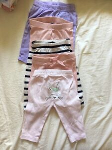 18-Piece Almost New Baby Girl and Neutral Pants and Jeans 0-3M