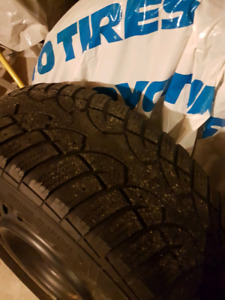 205 65 15 General Altimax Snow tires on Steel Rims