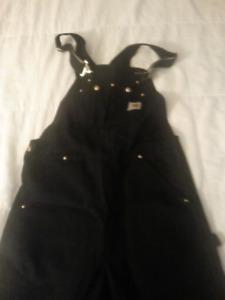 Brand new never worn carhart overalls black