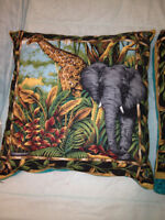Safari Quillow and Pillow New, made by local crafter...(sundog).