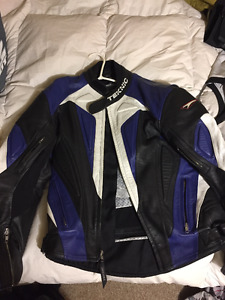 MENS SZ 42 TEKNIC MOTORCYCLE LEATHER JACKET