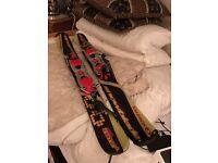 Snow Blades .. mini ski s make SALOMON ...AS NEW ....ideal winter sports great FUN