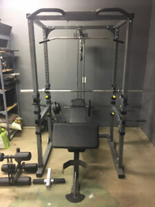Power Cage, Weights and Bench