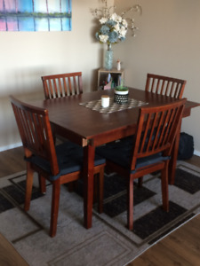 Wooden Dining Table with Chairs and Pads - $50.00!!