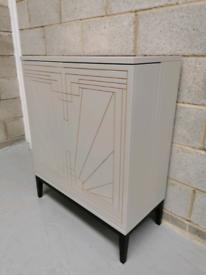 Marks & Spencer's Carraway Art Deco Light Grey Drinks Cabinet RRP-£499