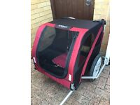 Dog carrier for bicycle