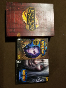3 PC Games. Lord of the Rings online, Warcraft 3 and Wow