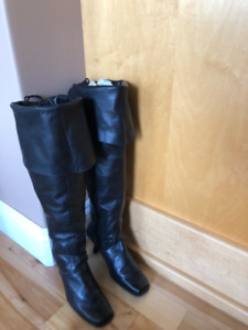 Leather over knee boots