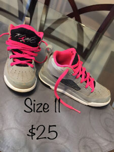 Girls size 11 and 12 sneakers