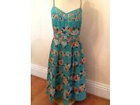Monsoon vintage look floral dress pristine Size 16