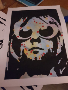 Kurt Cobain Original Art Work on 18x 24 Quality Paper NIRVANA