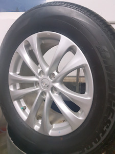 4 Infinity Alloy Rims with tires