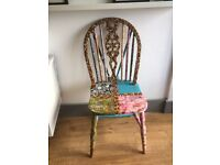 Decoupage vintage chair