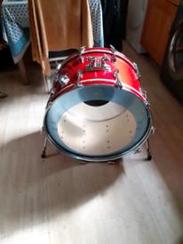"""Pearl Wood Fiberglass 24"""" bass drum"""