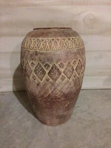 Pier One Clay Floor Vase Kitchener / Waterloo Kitchener Area image 1