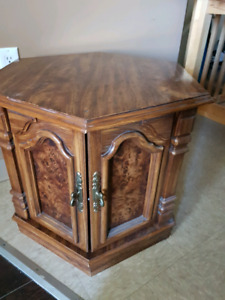 Vintage Side Table with Storage