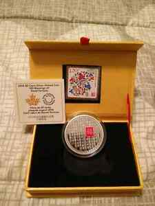 100 Blessings of Good Fortune Coin + Stamp