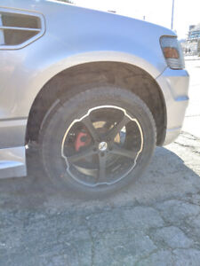 """20"""" Ikon Rims with Tires"""