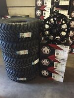 """Chevy Silverado/Ford F-150 17"""" Cooper Mud Tire and Rim Package"""